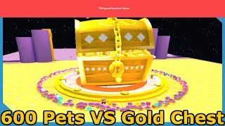 600 TIER 17 PETS vs DOMINUS CHEST! WE BROKE THE GAME! - ROBLOX PET SIMULATOR