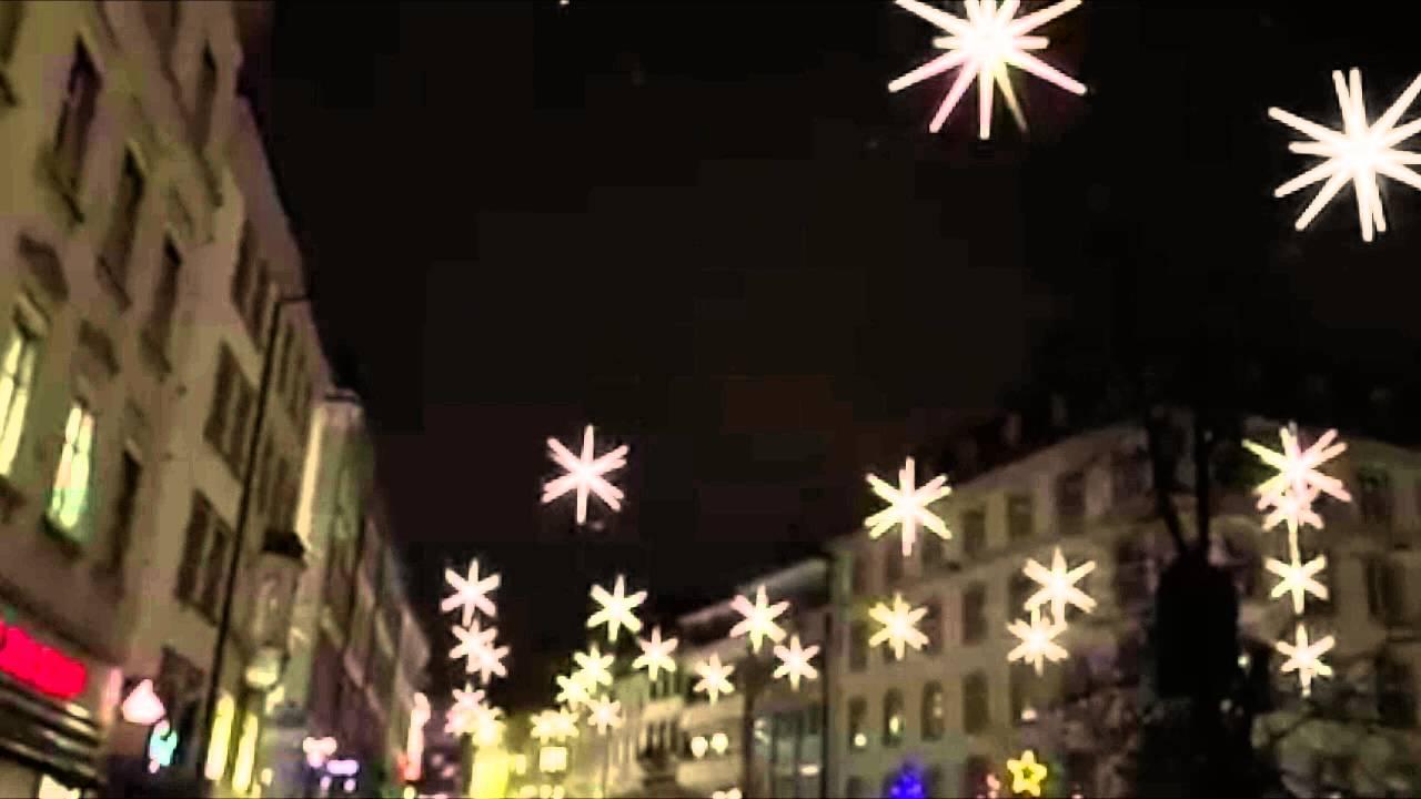AllerStern Weihnachtsbeleuchtung St. Gallen - YouTube