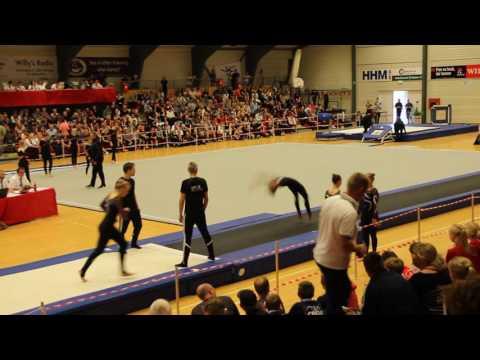 Gymnastik Odder Teamgym juniorpiger - bane - Finale Helsinge 2016