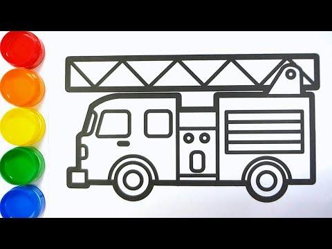 Cara Menggambar Mobil Pemadam Kebakaran Mewarnai Gambar Mobil Pmk Youtube