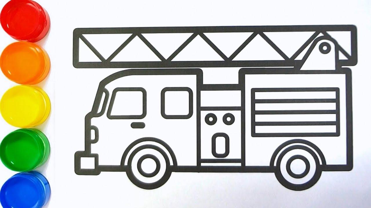 Cara Menggambar Mobil Pemadam Kebakaran | Mewarnai Gambar ...