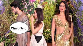 Shahid Kapoor Ignores Kareena Kapoor At Sonam Kapoor Wedding Reception