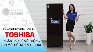 Tủ lạnh Toshiba: ngăn rau củ siêu rộng, khử mùi hôi nhanh chóng (GR-AG36VUBZ XB1)   Điện máy XANH