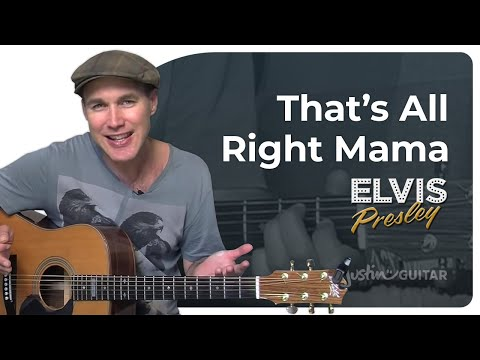 How to play That's All Right Mama by Elvis Presley (Easy Beginner Guitar Lesson BS-107)