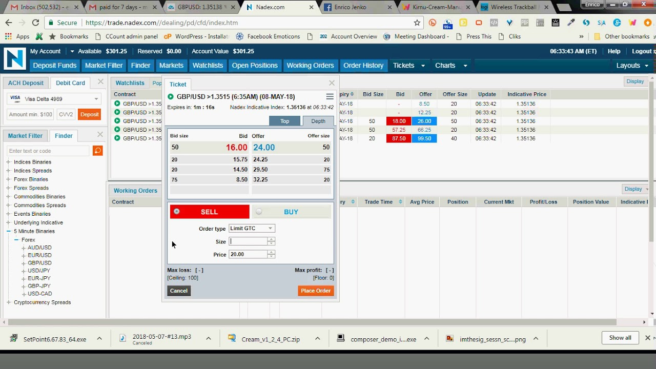 Binary options trading sessions