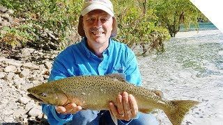 Salmon fishing with braided line tips