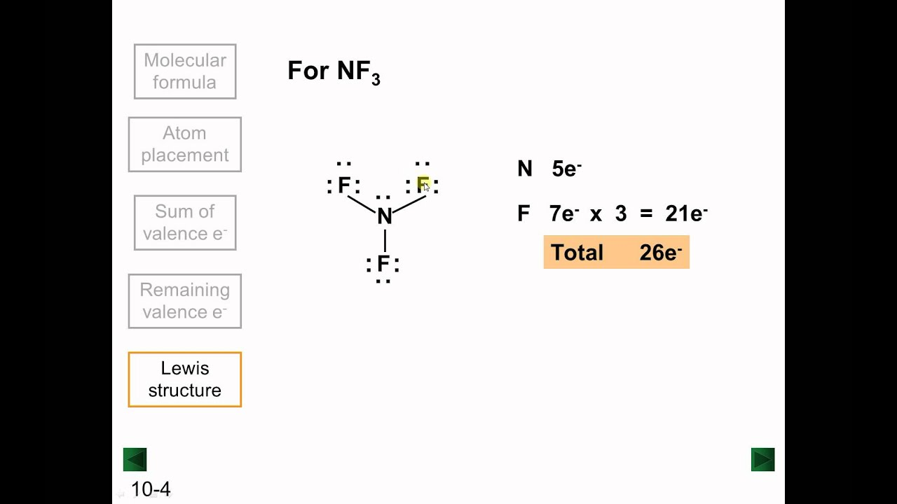 lewis structures part 2 of 2 youtube rh youtube com nf3 lewis structure lone pairs nf3 lewis structure hybridization