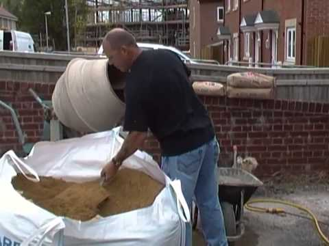 How to Mix Cement and Concrete with a Cement Mixer