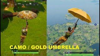 Fortnite - Battle Royale How To Unlock Camo / Golden Umbrella !