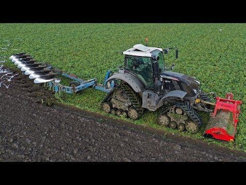 Topping & Ploughing XXL | Fendt 724 Vario + Zuidberg Tracks | De Zeeuw 2018