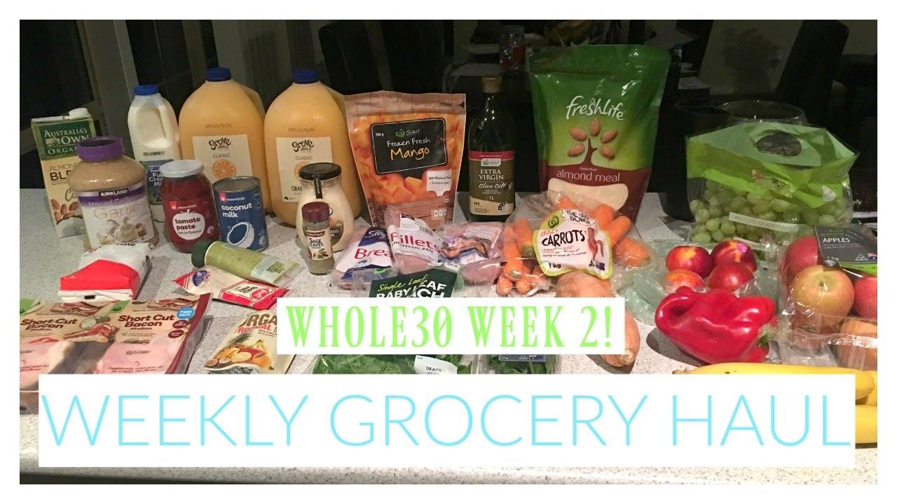 WEEKLY GROCERY HAUL || WHOLE30 WEEK 2 || Costco & Woolworths Australia