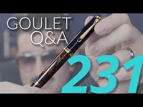 Goulet Q&A 231: #8 Nibs, Drying Pens After Cleaning, and Embarrassing Pen Leaks!