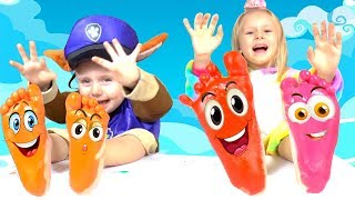 Learn Colors - Colors Song Baby with Feet Painting Nursery Rhymes for kids
