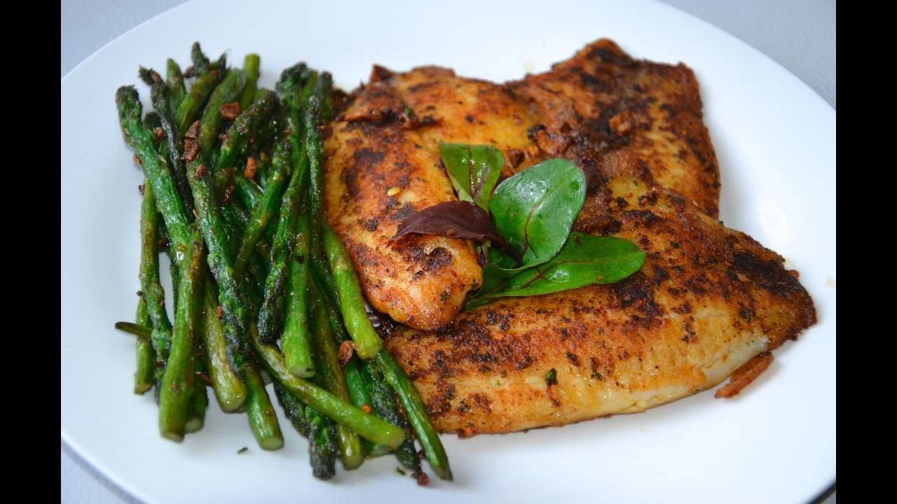 Tilapia Fish Fillets With Asparagus Healthy Recipe Youtube