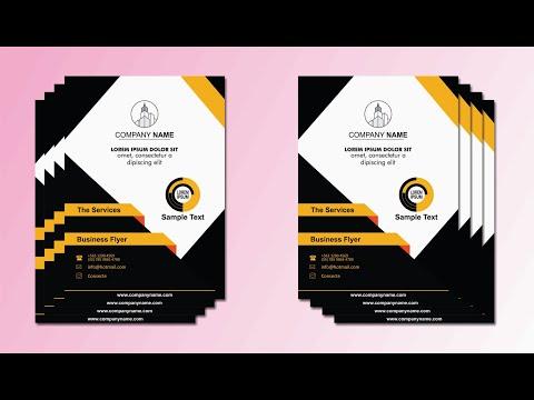 CorelDRAW X7 Tutorial BUSINESS FLYER DESIGN IDEAS 1 with Wajid Corel GraphiX thumbnail