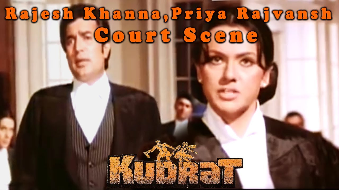 Rajesh Khanna, Priya Rajvansh Court Scene from Kudrat || Hindi Drama Movie