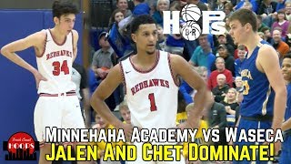 Jalen Suggs And Chet Holmgren Dominate vs Tough Out-State Team! Minnehaha vs Waseca Recap