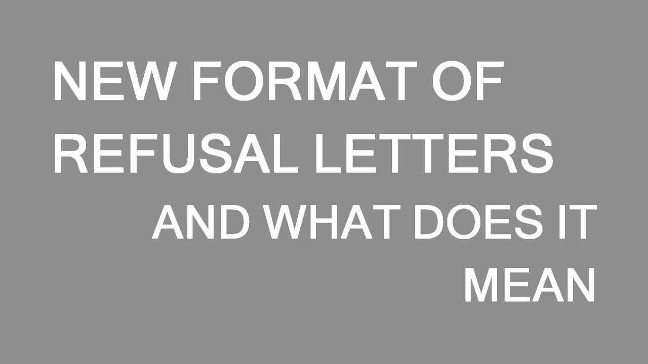 New Format Of Canadian Refusal Letters And What That Means For You Lp Group Youtube
