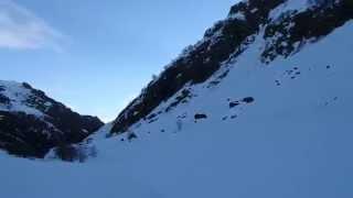 Entracque - Lago delle Rovine Innevato - 31.03.2015 Ore 19