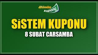 Sistem iddaa Kuponları / Hazır Kuponlar 08.02.2017