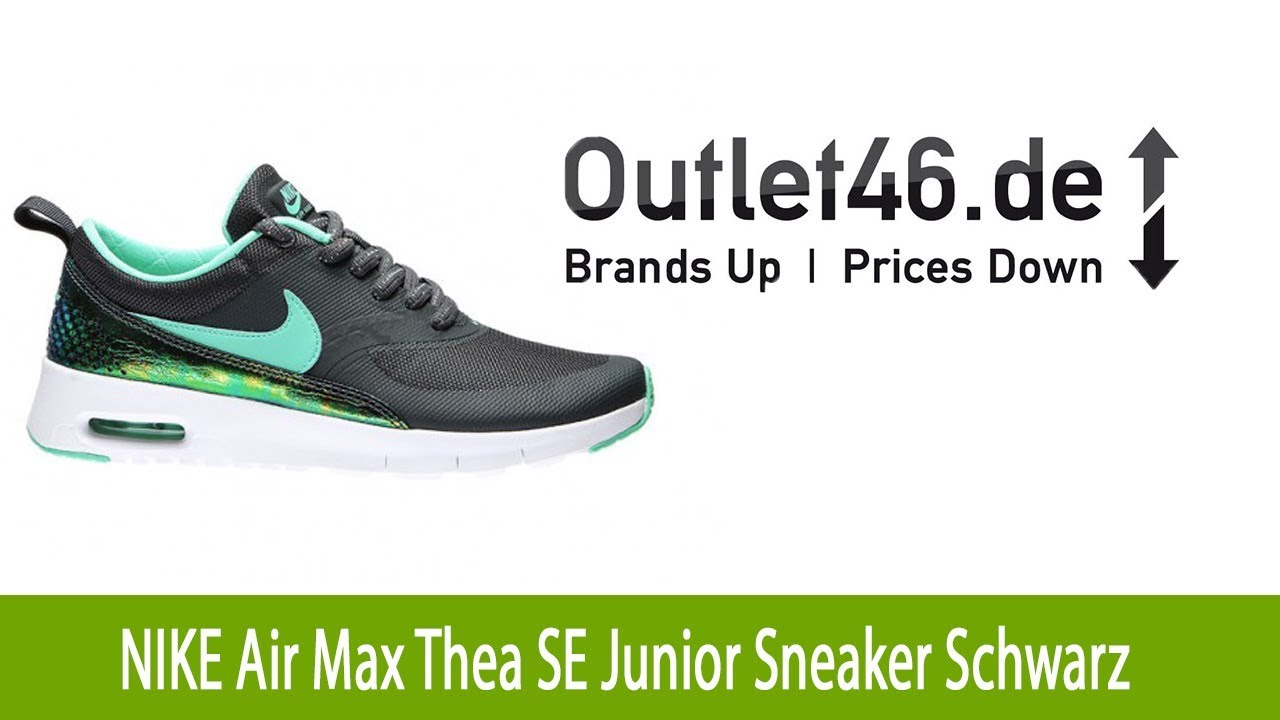 arrives picked up outlet store sale Cooler NIKE Air Max Thea SE Junior Schuh Turnschuhe Sneaker Schwarz l  Outlet46.de