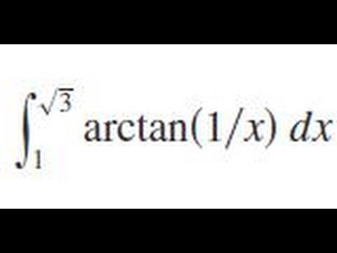 Integrate arctan(1/x) dx from x=1 to sqrt(3)