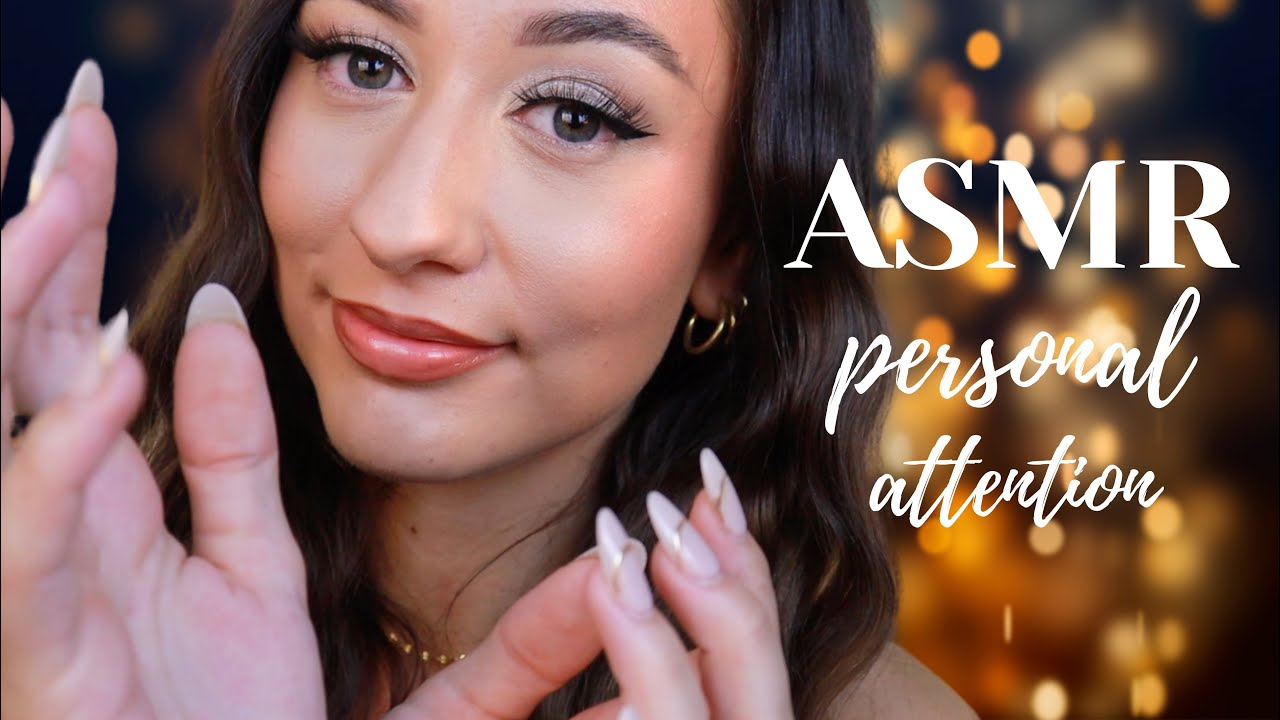 ASMR Personal Attention For Sleep 😴 face brushing, face touching, lens tapping + more