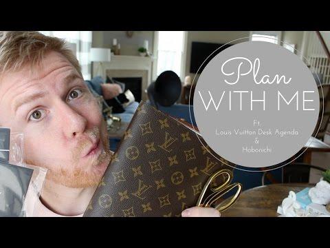 Plan with Me: ft. Louis Vuitton Desk Agenda, Hobonichi, & Graphic Image Notebooks