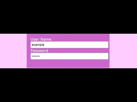 HTML Form With Input Type Password || HTML And CSS
