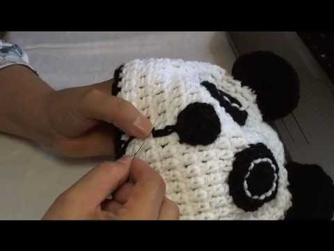 How To Crochet A Panda Beanie Video 3 Youtube