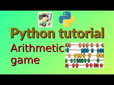 Arithmetic game - Python tutorial thumbnail