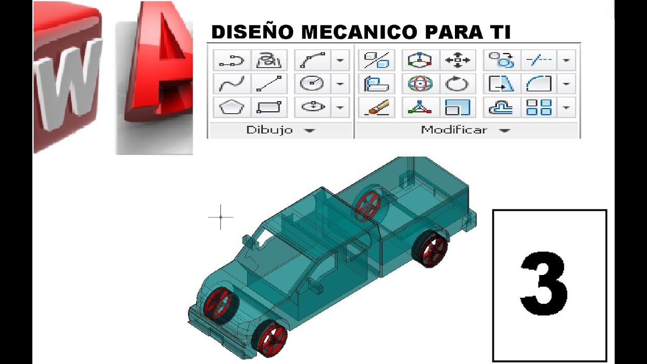 Tutorial de AutoCAD 3D  3 DibujoModificar y Seccin   YouTube