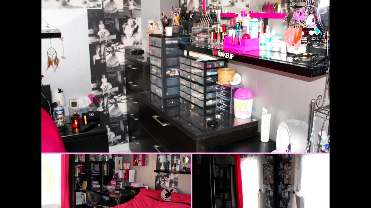 room tour rangement maquillage youtube. Black Bedroom Furniture Sets. Home Design Ideas