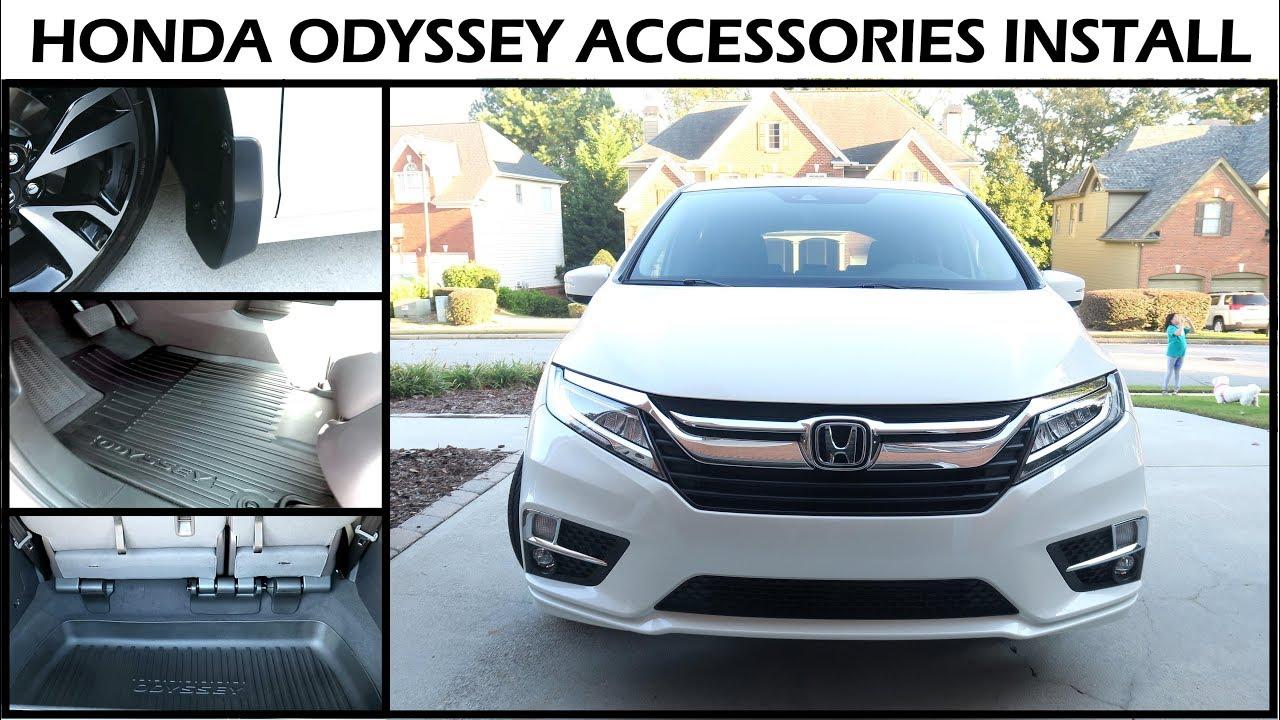 Honda Odyssey Install Splash Guard All Weather Floor Mats Cargo Tray