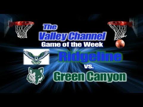 Green Canyon High School at Ridgeline High School basketball game 1-31-20