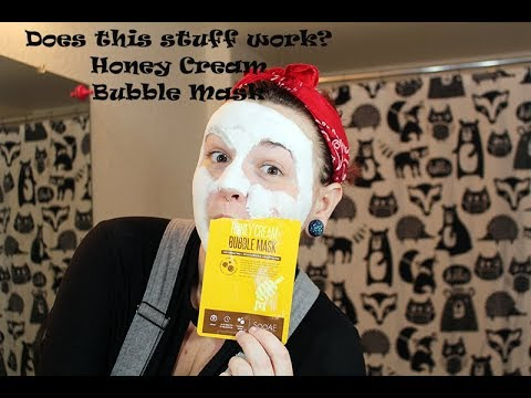 Honey Cream Bubble Mask review (walmart) Does this stuff work?