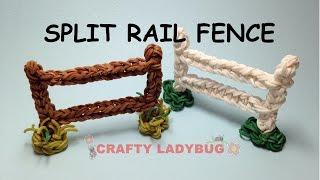 Rainbow Loom Fence-split Rail Advanced Charm Tutorials By Crafty Ladybug. Wonder Loom, Diy Loom