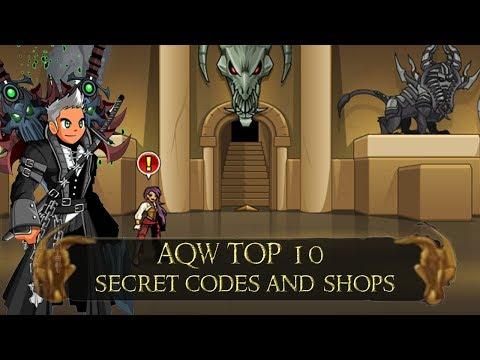 AQW Top 10 Secret Codes And Shops 2019