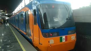 FM-95A FM.57/FM.58 Tren de 9 carros Entrando y saliendo de la estación Acatitla Línea A