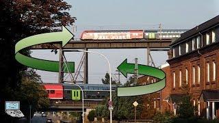 Doppelter Bahnverkehr a.d. Rendsburger Hochbrücke: Kreuzungspunkt mit BR 112, 648, Hectorrail, ...