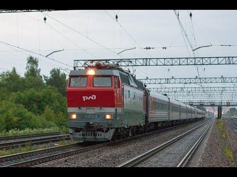 ЧС2Т-972 с поездом №15 Арктика Мурманск-Москва (RZD) Горы