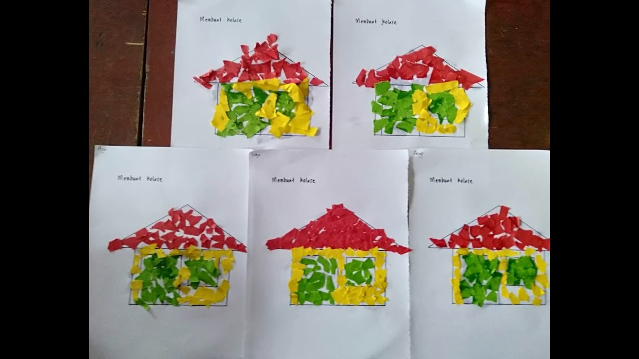 Gambar Kolase Masjid Dari Kertas Origami Nusagates