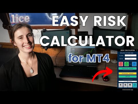 Easy Forex Risk Calculator MT4 (Position Size Calculator)