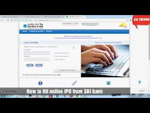 How to apply online IPO from SBI BANK net banking
