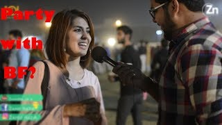Party with Boyfriend-funny answers|GONE WRONG!!!-Zahid nazir|Lahore Pakistan