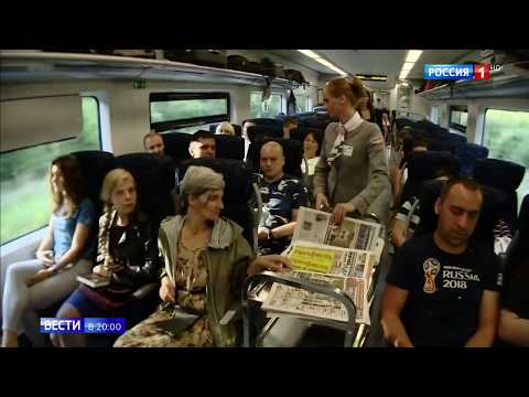 Поезд Ласточка курсирует от Петербурга до Пскова