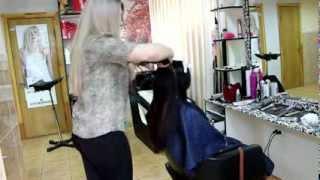 видео Шатуш на темные волосы , техника окрашивания
