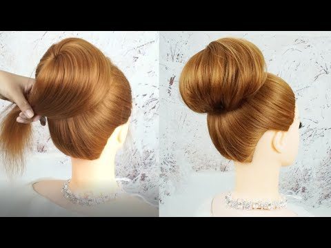 Easy High Bun Hairstyles For Party | Quick And Easy Hairstyle For Wedding | Easy Wedding Updo