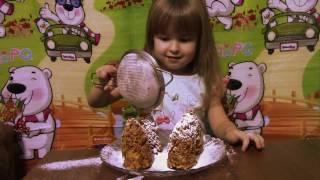 Новогодний десерт без выпечки «Еловые шишки» Master chef from Milanka Christmas cakes
