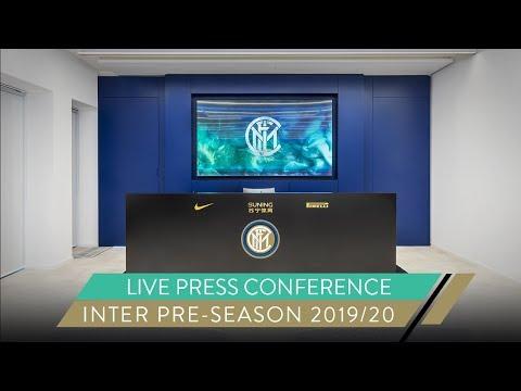 GIUSEPPE MAROTTA AND ANTONIO CONTE   LIVE PRESS CONFERENCE   INTER PRE-SEASON 2019/20